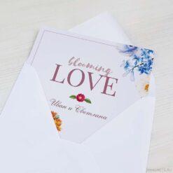 Приглашение на свадьбу «Цветущая любовь»