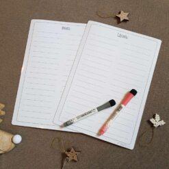 """Чек-листы """"Сделать"""" и """"Купить"""" к календарю, белые"""