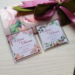 Магнитик с датой свадьбы - комплимент для гостей на свадьбе