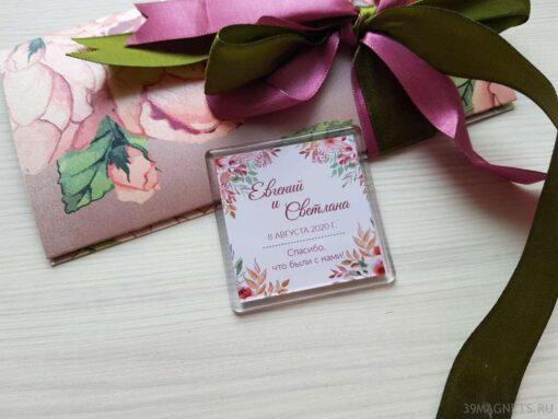 Идеи подарков гостям от молодожёнов: свадебные магниты