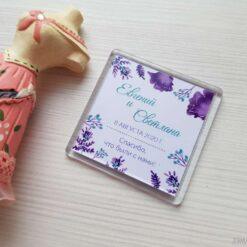 Свадебный магнит - оригинальный подарок гостям от молодожёнов