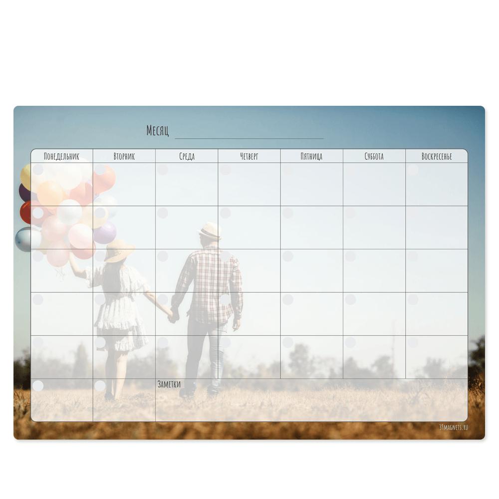 """Магнитный планер """"Вечный календарь"""", с любым изображением"""