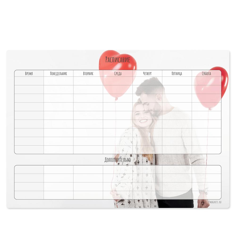 """Магнитный планер """"Вечный календарь"""", с любым изображением и расписанием на неделю"""
